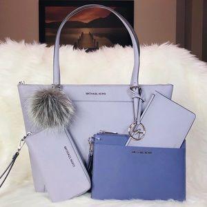 4PCS Michael Kors Ciara Tote Wallet Clutch Charms
